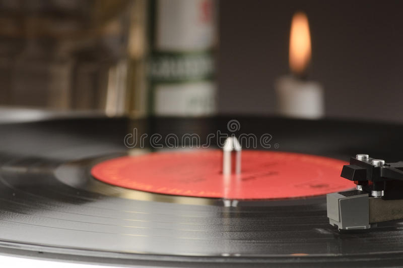Download Old record player stock image. Image of black, spin, candle - 19077433