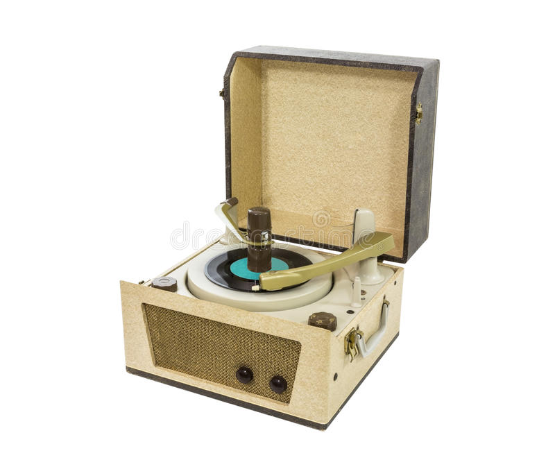 old record player from the 1960 39 s stock image image 27411609. Black Bedroom Furniture Sets. Home Design Ideas