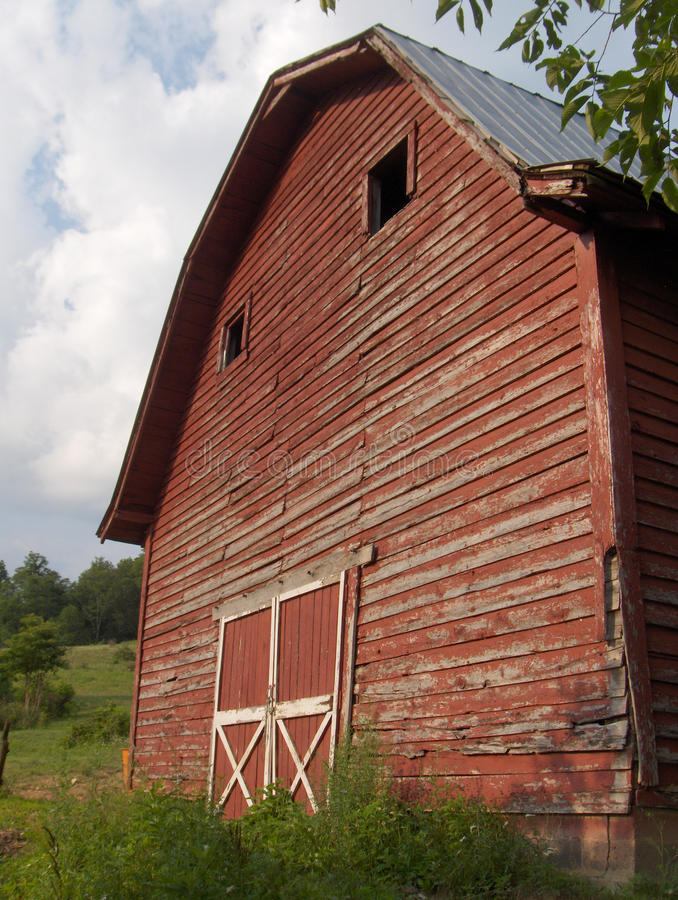 Download Old Red Barn stock photo. Image of barn, shed, field - 13280724