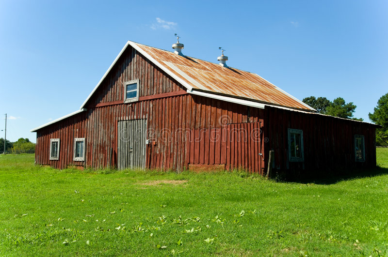 Download Old Red Barn stock photo. Image of land, farm, windows - 3259376