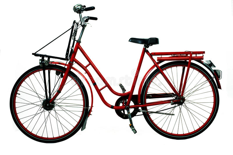 Download Old red bicycle stock image. Image of road, handbreaks - 13359707