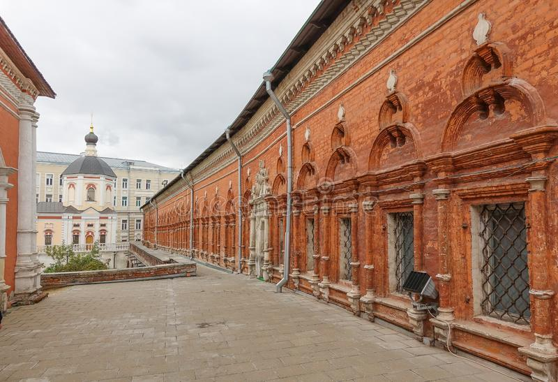 An old red brick building. Moscow ancient buildings stock photos