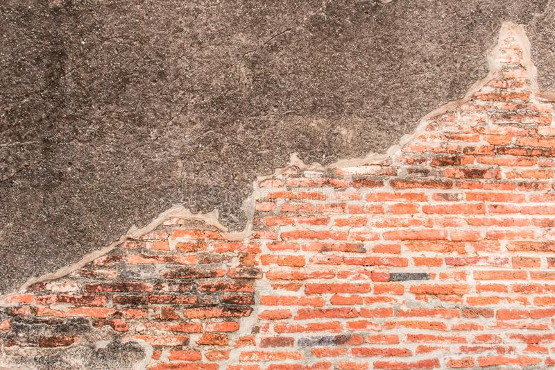 Old red Brick and cement dru Wall Texture background image. Grunge Red Stonewall Background. Old red Brick Wall Texture background image. Grunge Red Stonewall royalty free stock photography