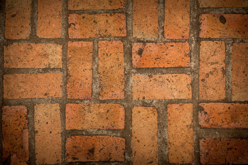 Download Old Red Brick Floor Texture Background Stock Image
