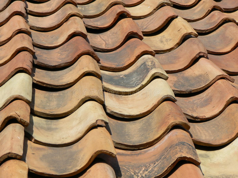 Old red brick roof royalty free stock images