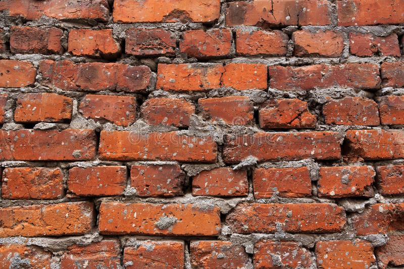 Old red brick texture royalty free stock photo