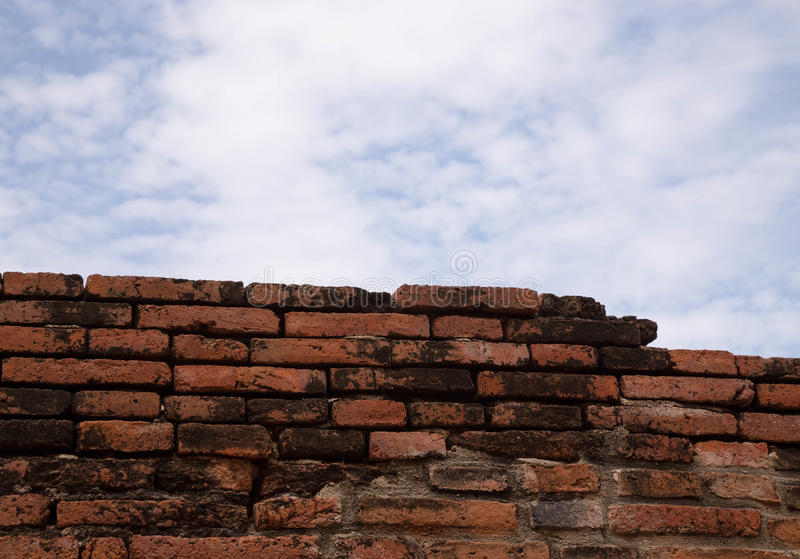 Old red brick wal royalty free stock image