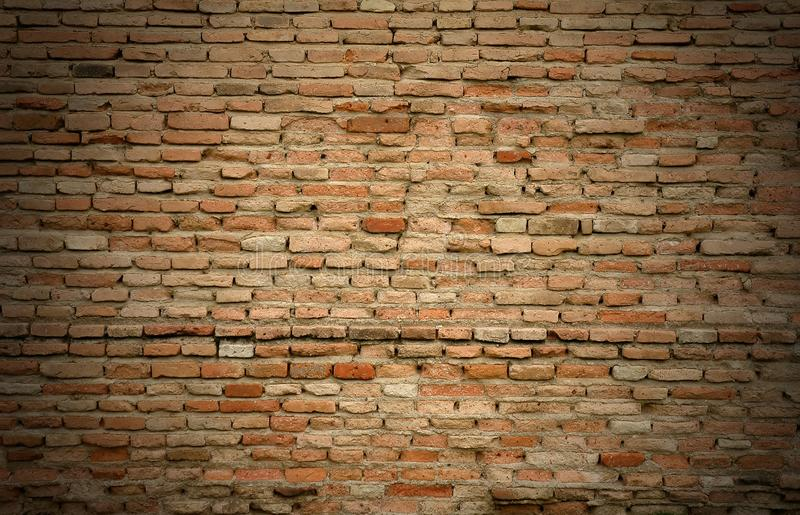 Old red brick wall stock image
