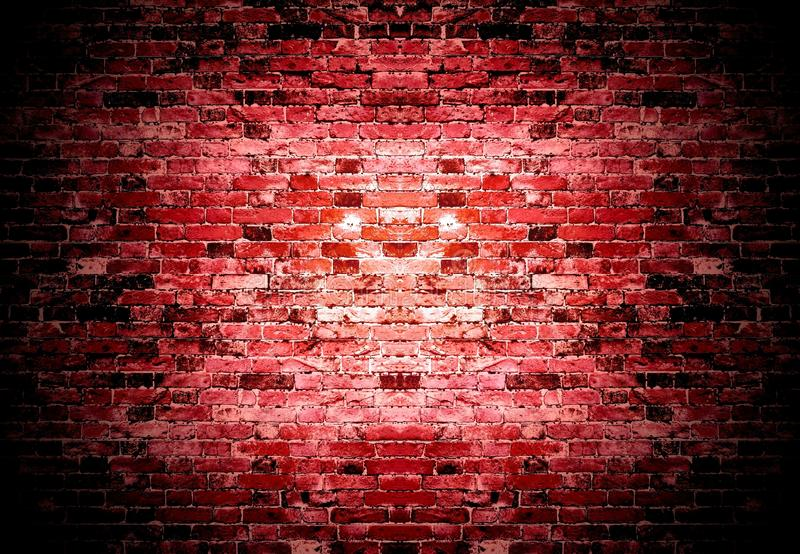 Old red brick wall background royalty free stock photography