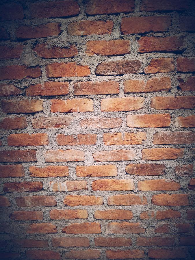 Old Red brick wall background textured. Vintage brick wall texture royalty free stock image