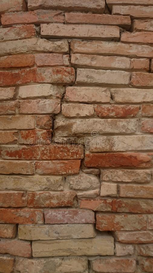Old Red Brick Wall. Closeup, building, stop royalty free stock images