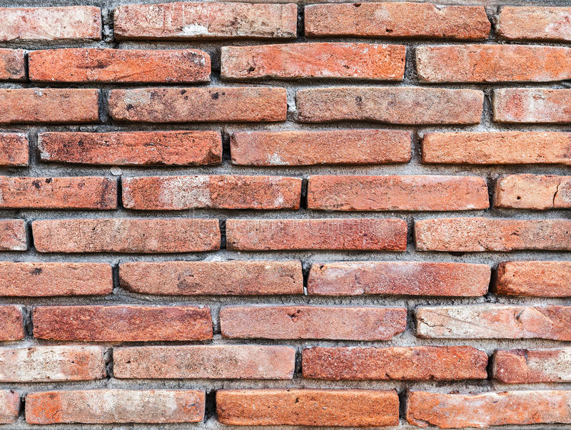 Old red brick wall, seamless background texture royalty free stock photos