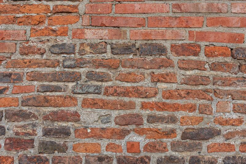 Old red brick wall texture background.  royalty free stock images