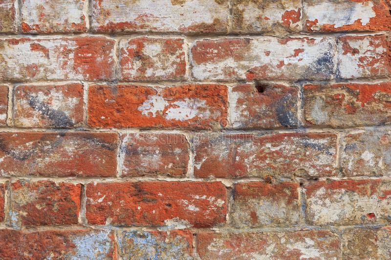 Old red brick wall texture background royalty free stock photos