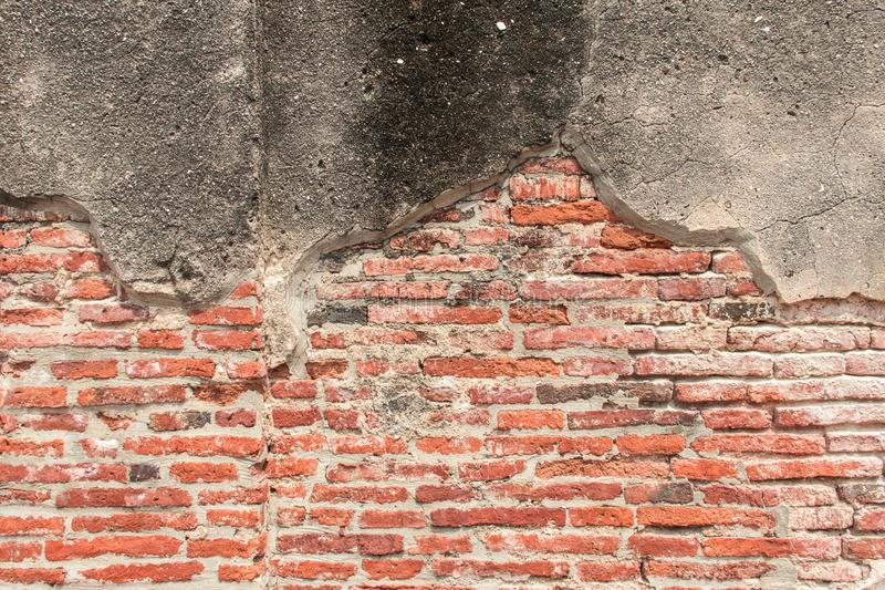 Old red Brick Wall Texture background image. Grunge Red Stonewall Background stock image