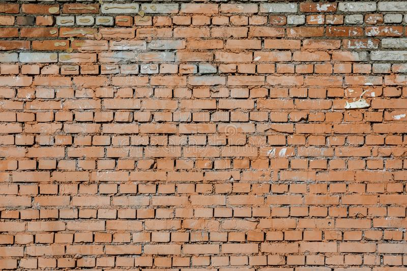 Old red brick wall texture background stock photography
