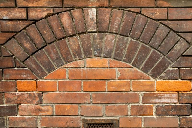 Old red  brickwork background texture royalty free stock photography