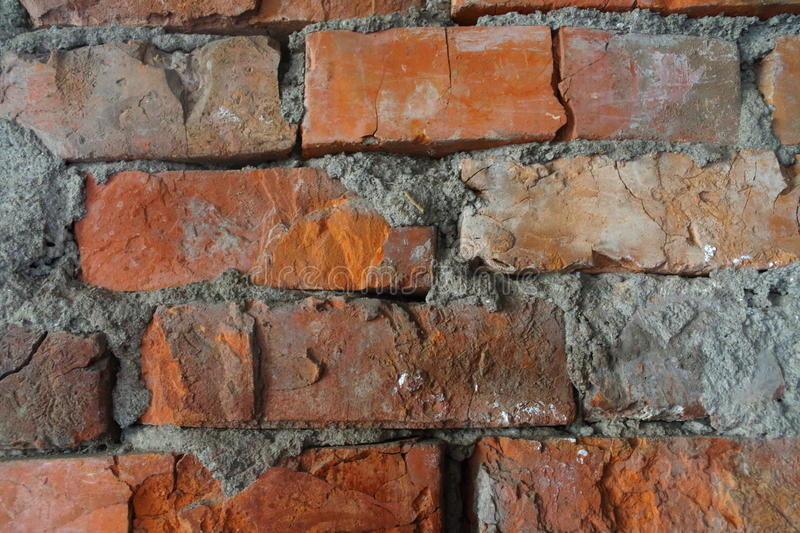 Old red brickwork. stock images