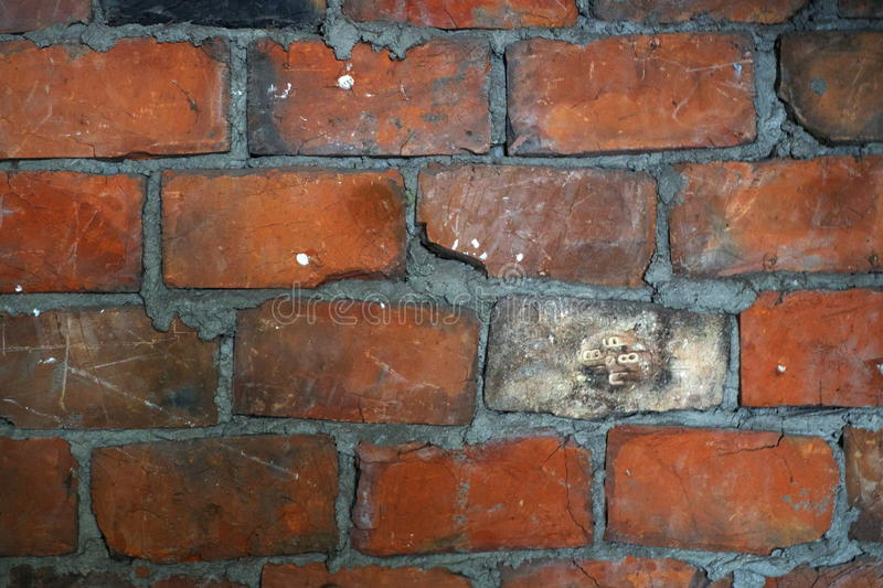 Old red brickwork. stock photos
