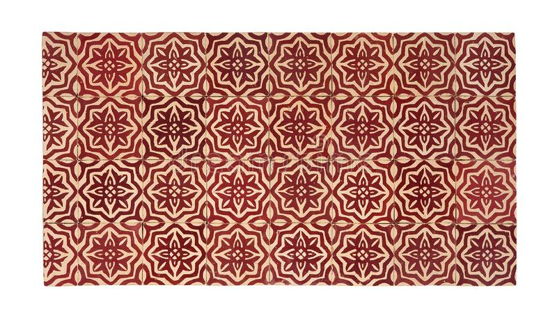 Old red ceramic tiles in oriental East style royalty free stock images