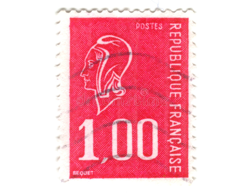 Download Old red french stamp stock photo. Image of mail, business - 7176392