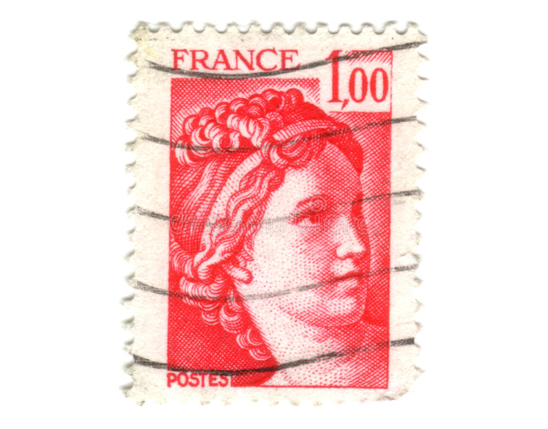 Download Old Red French Stamp Royalty Free Stock Photos - Image: 7472958