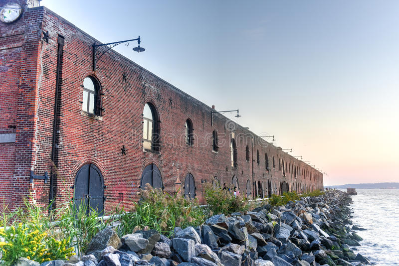 Old Red Hook Industrial Facility royalty free stock images