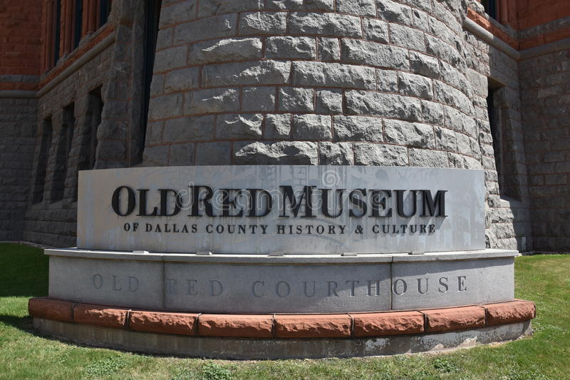 Old Red Museum, formerly Dallas County Courthouse, in Texas royalty free stock images
