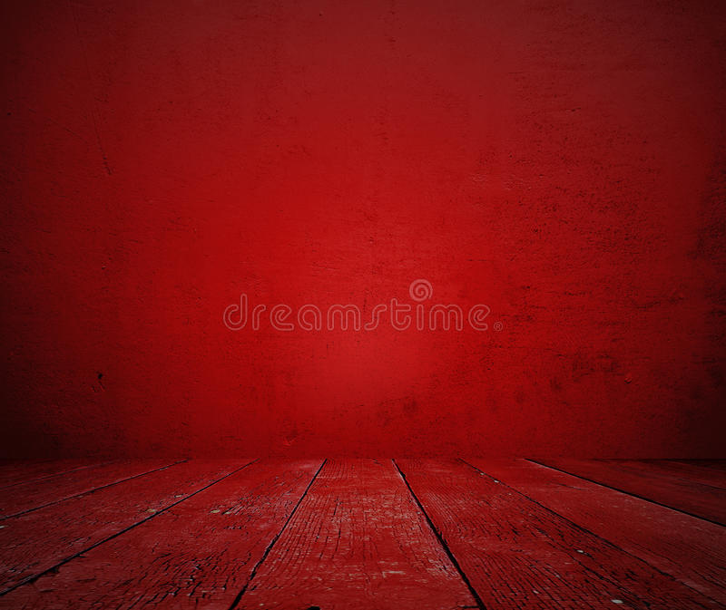 Download Old red room stock photo. Image of cement, indoor, home - 28912894