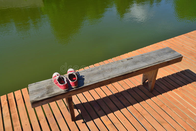 Download Old red shoes stock image. Image of shore, feet, travel - 31481365