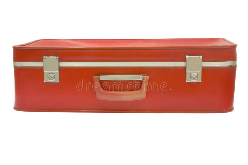 Download Old red suitcase stock photo. Image of retro, worn, case - 1403506