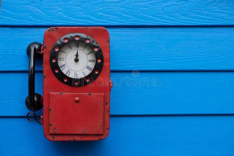 Old red telephone stock photos