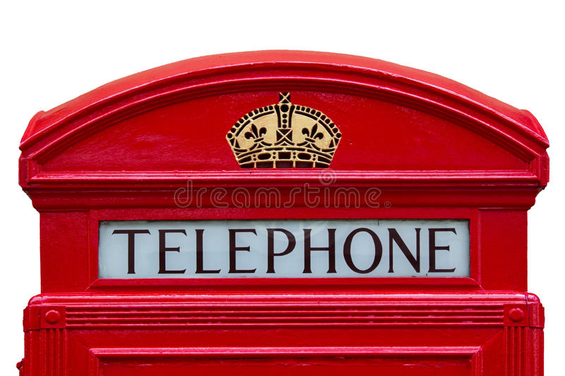 Download Old Red Telephone Box With Clipping Path Stock Image - Image: 25184449