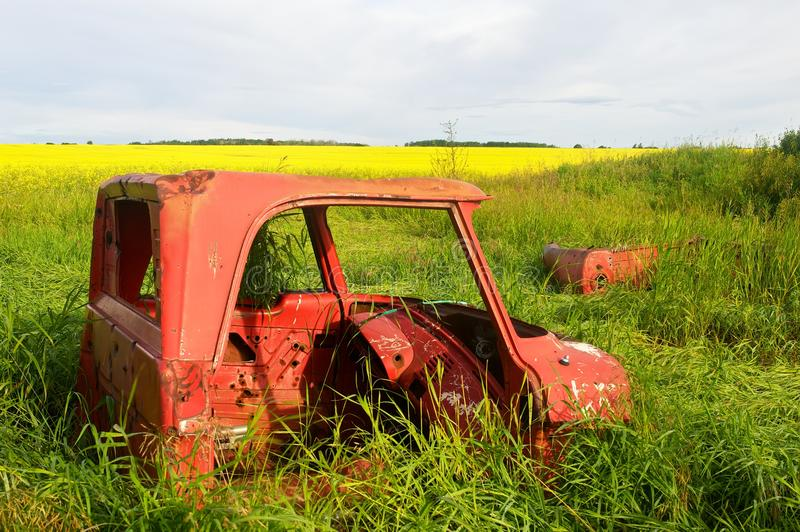 Old red truck royalty free stock photo