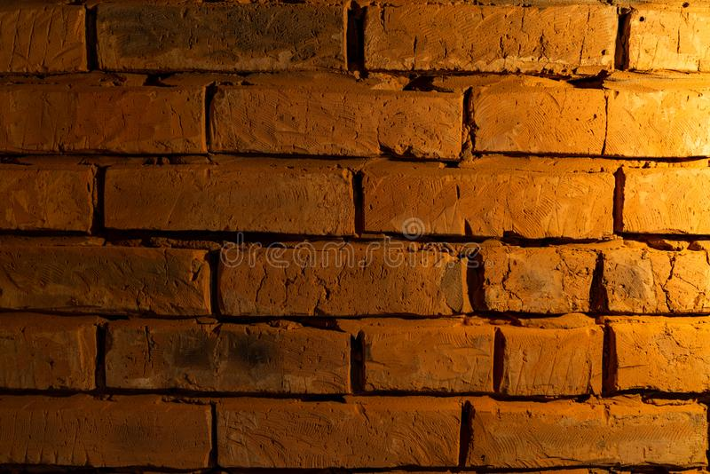 Old red vintage brick wall texture grunde background, interior design. Horizontal architecture wallpper stock photos
