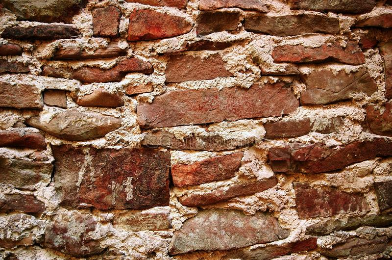 old red vintage texture of bricks, castle wall and ancient ruins. background vintage royalty free stock photos