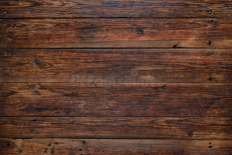 Old red wood background, rustic wooden surface with copy space royalty free stock images