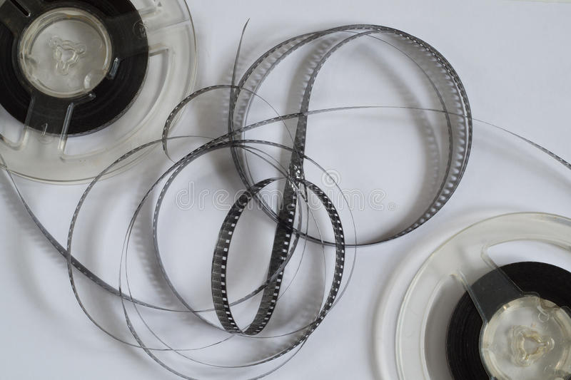 Old reels with black and white film royalty free stock photos