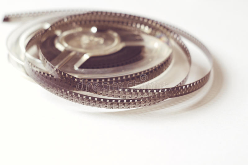 Old reels with black and white film royalty free stock image