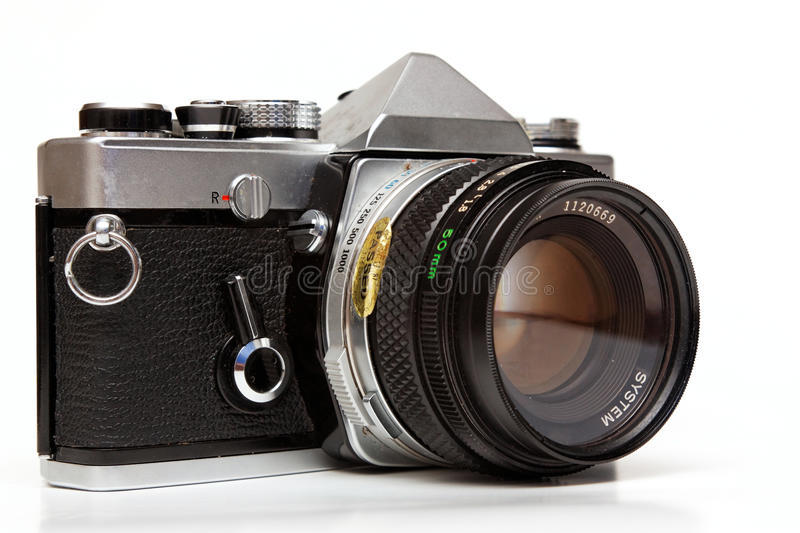 Old reflex camera. royalty free stock photos