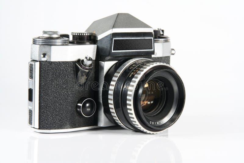 Old reflex camera stock image