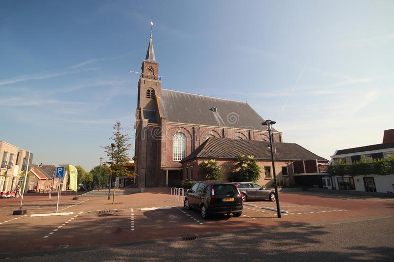Old reformed church in the middle of the village Moerkapelle, close to Gouda stock photos