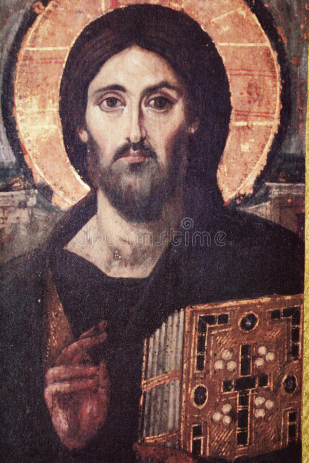 Old Religious Painting stock photography