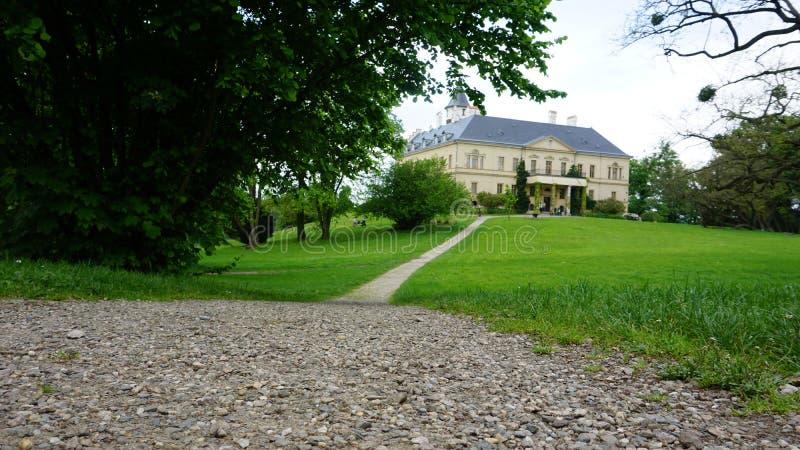 old renaissance Castle Radun nabij Opava, in Tsjechië stock fotografie