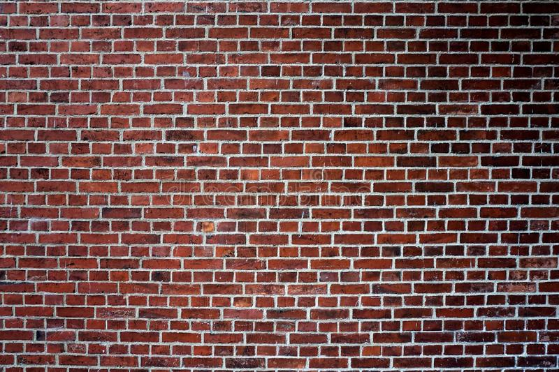 old repaired wall with brick texture stock image