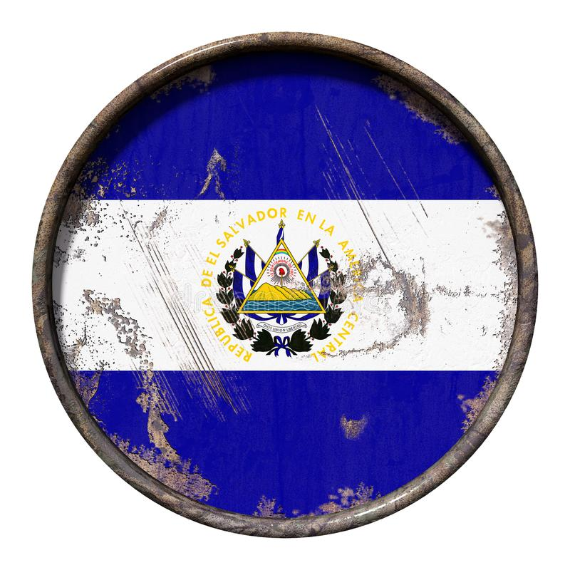 Old Republic Of El Salvador Flag Stock Illustration Illustration