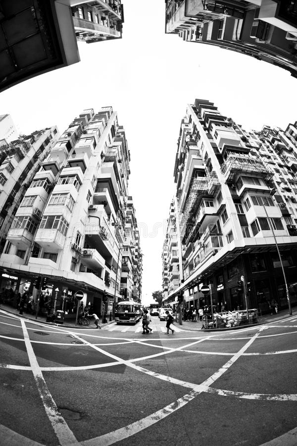 Old residential apartment in Hong Kong royalty free stock images