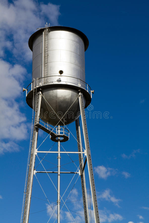 Download Old Restored Water Tower stock photo. Image of system - 21976436