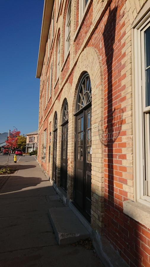 Old Retail building in historic Elora Ontario stock photo