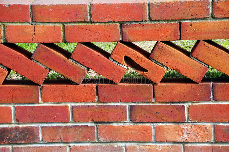 Download Old Retro Brick Wall Fence stock photo. Image of bricklayer - 25523856